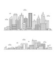 outline city landscape vector image vector image