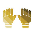 pair of cricket gloves icon vector image
