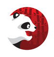panda logo in flat style vector image vector image