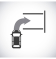 parking zone signal icon vector image vector image