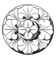 romanesque boss rosette is a 13th century design vector image vector image