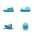 sea ship logo vector image vector image