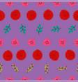 seamless floral leaf pattern background vector image vector image
