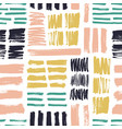 seamless pattern with bright colored brush strokes vector image
