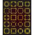 Set of vintage gold frames - design elements vector image