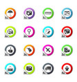 shipping and delivery icons set vector image vector image