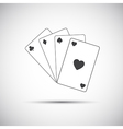 Simple playing cards icon game vector image vector image