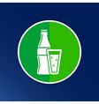 soda bottle design concept logo sign line vector image
