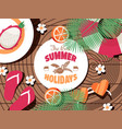 summer holidays typographic poster vector image vector image