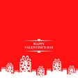 valentine gift stand red vector image