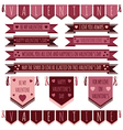 valentine ribbons vector image vector image