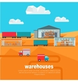 Warehouses in the Dessert Storehouse Worldwide vector image vector image