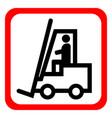 warning forklift trucks vector image vector image