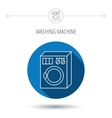 Washing machine icon Washer sign vector image