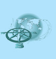 wind rose and map vector image vector image