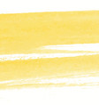 yellow watercolor texture background hand painted vector image vector image