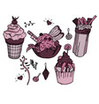 yummy ice creams and cocktail for winter warm vector image vector image
