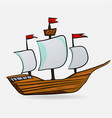 sailing vessel vector image