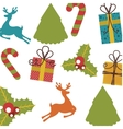 set icons pattern christmas icon vector image