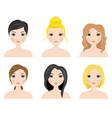 set of cute girls vector image