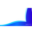 abstract wave background with blue color vector image vector image