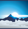 alpine mountain with clouds vector image