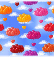 balloons with hearts seamless vector image vector image