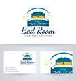 Bed Room Furniture vector image vector image