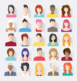 Big set of avatars profile pictures flat icons vector image vector image