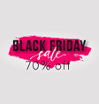 black friday sale poster with watercolor splash vector image vector image