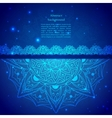 Blue Indian Vintage Ornament vector image vector image
