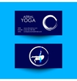 Business card of Aerial yoga studio vector image vector image