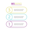 Business infographics List with 3 steps options vector image vector image