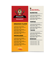 Cafe menu mexican template design vector image vector image