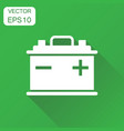car battery icon business concept auto vector image vector image