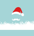 christmas card merry and santa claus vector image vector image