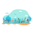 city park people outdoor activities composition of vector image vector image