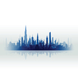 cityscape with fade blue vector image vector image