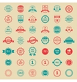 Colored Vintage Badges and Labels vector image vector image