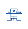 coworking line icon concept coworking flat vector image vector image