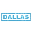 Dallas Rubber Stamp vector image vector image