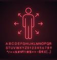 decision management neon light icon vector image