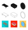design of bedroom and room symbol vector image vector image