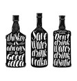 drinks alcoholic beverages label set whiskey vector image vector image