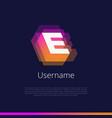 e-monogram-logo vector image vector image