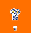 eat nonstop logo restaurant spoon fork infinity vector image