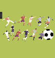 european football soccer players set vector image