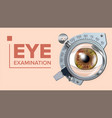 Eye test banner correction device