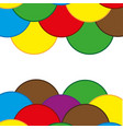 figures colour background vector image vector image