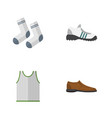 flat icon clothes set of singlet male footware vector image vector image